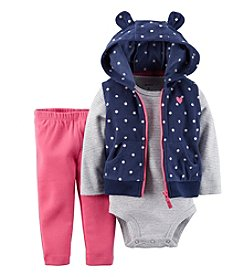 Carter's® Baby Girls' 3-Piece Vest Outfit Set