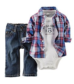 Carter's® Baby Boys' 3-Piece Plaid Shirt Outfit Set