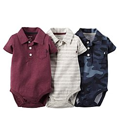 Carter's® Baby Boys' 3-Pack Polo Bodysuits