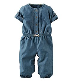 Carter's® Baby Girls' Denim Jumpsuit