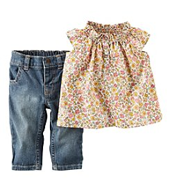 Carter's® Baby Girls' 2-Piece Top & Pants Set