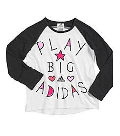 adidas® Girls' 2T-6X Play Big Raglan Tee