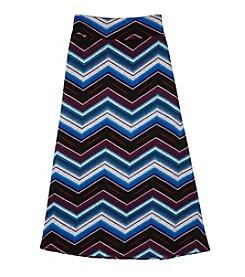 Amy Byer Girls' 7-16 Chevron Striped Maxi Skirt