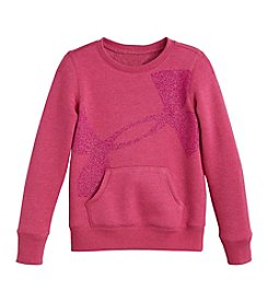 Under Armour® Girls' 4-6X Cropped Big Logo Pullover Sweatshirt