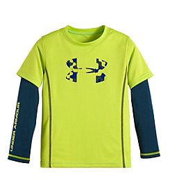 Under Armour® Boys' 2T-7 Cloud Camo Slider Layered Top