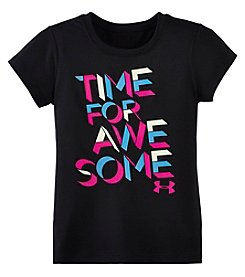Under Armour® Girls' 2T-4T Time For Awesome Tee