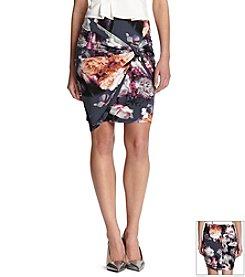 Robert Rodriguez® Floral Drape Skirt