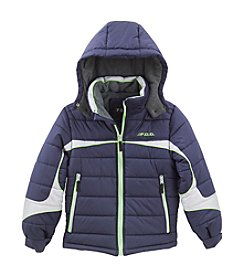 London Fog® Boys' 2T-16 Spliced Puffer Jacket