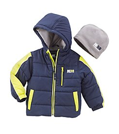HK58  Boys' 2T-20 Puffer Jacket with Hat