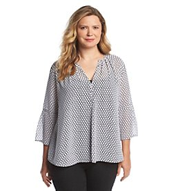 MICHAEL Michael Kors® Plus Size Printed Woven Top