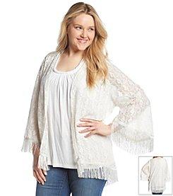 Jessica Simpson Plus Size Sammy Lace Kimono