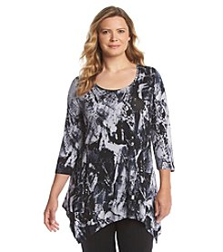 Cupio Plus Size Mineral Wash Tunic