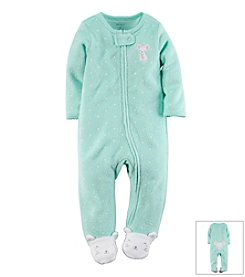 Carter's® Baby Girls' Mouse Terry Zip-Up Sleep & Play