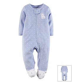 Carter's® Baby Girls' Dog Terry Zip-Up Sleep & Play Footie