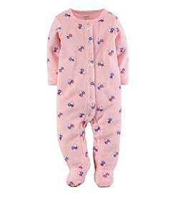 Carter's® Baby Girls' Bow Terry Snap-Up Sleep & Play