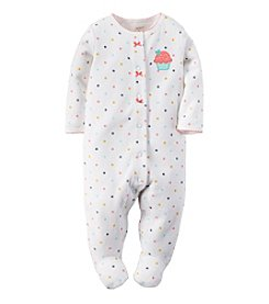 Carter's® Baby Girls' Cupcake Terry Snap-Up Sleep & Play Footie