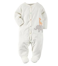 Carter's® Baby Girls' Safari Terry Snap-Up Sleep & Play