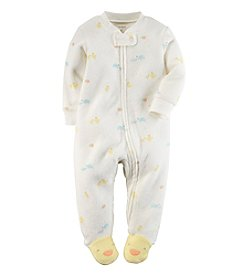 Carter's® Baby Girls' Turtle Terry Zip-Up Sleep & Play