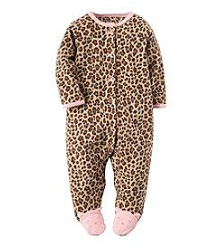 Carter's® Baby Girls' Newborn-9M Kitty Fleece Snap-Up Sleep & Play