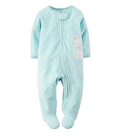 Carter's® Baby Girls' Mouse Fleece Zip-Up Sleep & Play