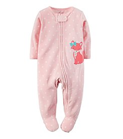 Carter's® Baby Girls' Newborn-9M Fox Terry Zip-Up Sleep & Play