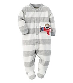 Carter's® Baby Boys' Newborn-9M Monkey Plane Fleece Snap-Up Sleep & Play