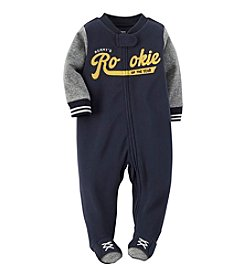 Carter's® Baby Boys' Rookie Fleece Zip-Up Sleep & Play