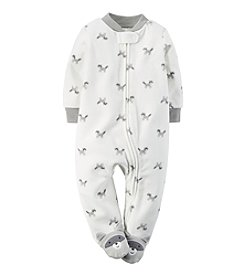 Carter's® Baby Boys' Newborn-9M Raccoon Fleece Zip-Up Sleep & Play