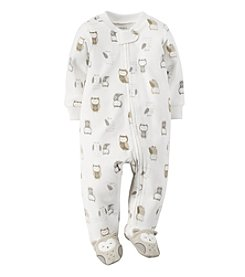 Carter's® Baby Owl Fleece Zip-Up Sleep & Play