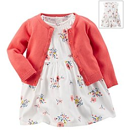 Carter's® Baby Girls'Flower 2-Piece Dress & Cardigan Set