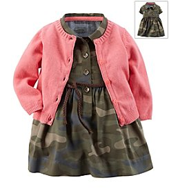 Carter's® Baby Girls' Camo 2-Piece Dress & Cardigan Set