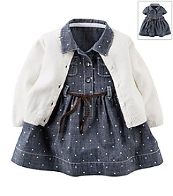 Carter's® Baby Girls' Denim Dress With Cardigan