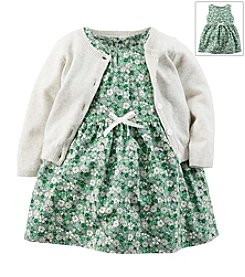 Carter's® Baby Girls' Floral 2-Piece Dress & Cardigan Set