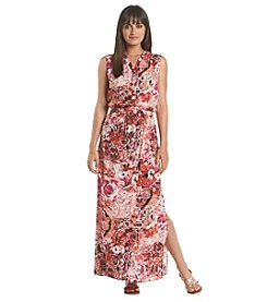 Ivanka Trump® Print Collared Maxi Dress