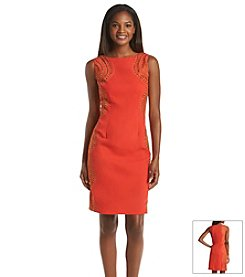 Chetta B. Embroidered Sheath Dress