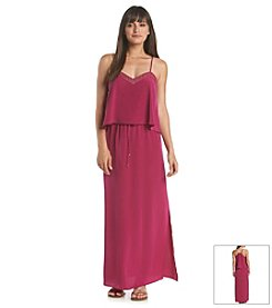 Ivanka Trump® Studded Popover Maxi Dress