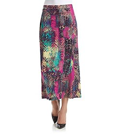 Kasper® Long Printed Skirt