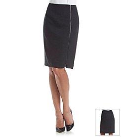 Kasper® Twill Zipper Skirt