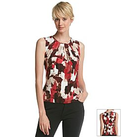 Calvin Klein Abstract Floral Tank