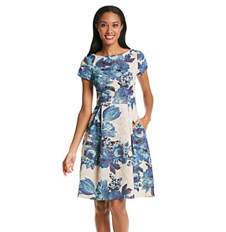 1c725eaa75bab6 UPC 886732889997 product image for Adrianna Papell® Cap Sleeve Floral Fit  And Flare Dress ...