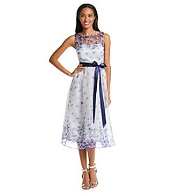 Adrianna Papell® Floral Organza Party Dress