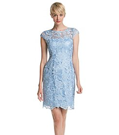 Adrianna Papell® Cap Sleeve Chemical Lace Dress