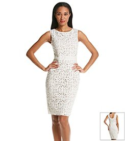 Xscape Lace Cut Scuba Dress