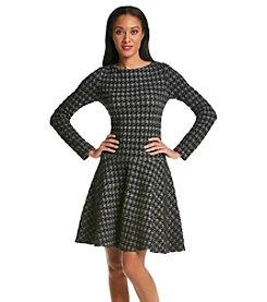 Ivanka Trump® Long Sleeve Patterned Dress