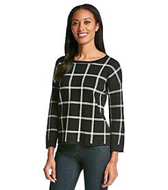 Chelsea & Theodore® Plaid Sweater