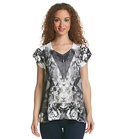 Oneworld® Printed Short Sleeve Tunic