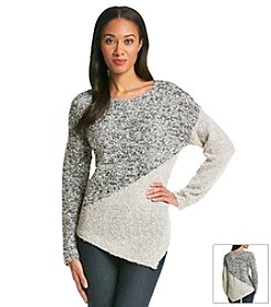 Fever™ Asymmetrical Print Sweater