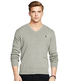 Polo Ralph Lauren® Men's Long Sleeve Pima V-Neck Sweater