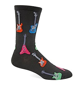Hot Sox® Men's Electric Guitar Crew Socks