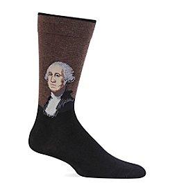Hot Sox® Men's George Washington Crew Socks